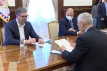 <p>Вучић у разговору с руским амбасадором</p>