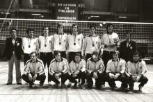 <p>Гвозденовић (други с лијева) са друговима из репрезентације Југославије</p>