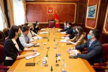 <p>Са састанка потпредсједнице и делегације УНИЦЕФ-а</p>