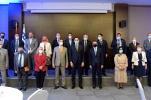 <p>Вуковић са представницима дипломатског кора</p>