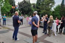 <p>Удружење подстанара протестовало испред Владе</p>