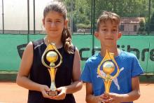 <p>Тара и Иван младе наде црногорског тениса</p>