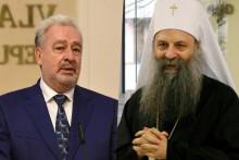 <p>Кривокапић и патријарх Порфирије</p>