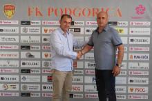<p>Спортски директор Подгорице, Пејовић и Рогановић</p>