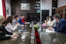 <p>Сусрет градоначелника Котора и главног преговарача Зорке Кордић</p>