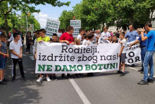 <p>Протест Ботуњана</p>
