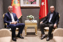 <p>Ђукановић и Ердоган</p>