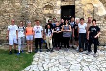 <p>Учесници акције испред Манстира Златеш</p>