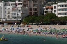 <p>Детаљ са плаже у Добрим водама</p>