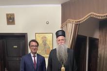 <p>Митрополит са амбасадором Руске Федерације</p>