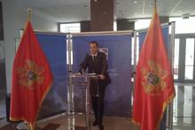<p>Голубовић на јучерашњој прес-конференцији</p>