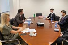 <p>Са састанка министра Милатовића и амбасадора Лиу Ђија</p>