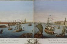 <p>Ријека Нева у Санкт Петербургу 1753.г, рад Макајева Качалова</p>