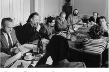 <p>На Сједници Предсједништва Савеза књижевника Југославије, Београд, 19.03.1986.г</p>