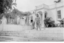 <p>На Куби пред Хемингвејевом кућом</p>