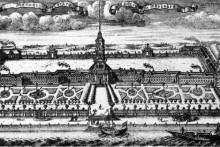 <p>Невски манастир, 1716. г, гравура А.Ф.Зубова</p>