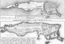 <p>Првобитни планови Петербруга</p>