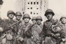 <p>Војници Црвене армије у Београду 1944.г</p>