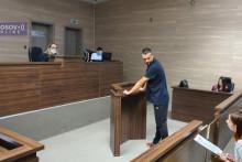 <p>Јовановић пред судом у Приштини</p>