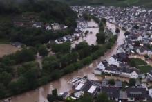 <p>Скриншат, поплава у Њемачкој</p>