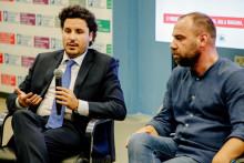 <p>Дритан Абазовић на конференцији</p>
