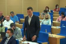<p>Крстовић у градском парламенту</p>