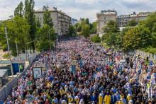 <p>Велики број вјерника прославио Дан Крштења Кијевске Русије</p>
