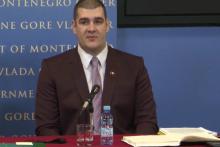 <p>Раде Милошевић током конференције</p>