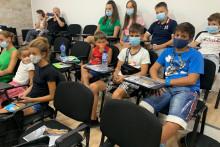 <p>Млади на предавању у Котору</p>