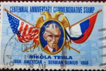 <p>Поштанска марка са ликом Николе тесле</p>