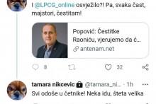 <p>Твит Тамаре Никчевић</p>