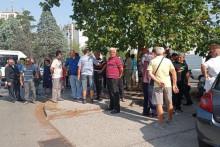 <p>Са јучерашњег протеста бивших радника</p>