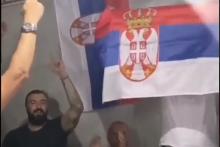 <p>Никола Пековић на весељу</p>