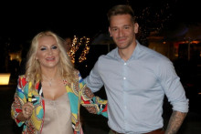 <p>Гоца Тржан са супругом</p>