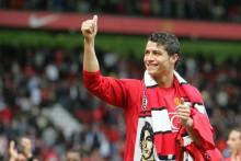 <p>Роналдо у дресу Јунајтеда</p>
