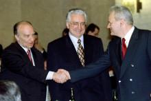 <p>Изетбеговић, Туђман и Милошевић</p>