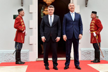 <p>Милановић и Ђукановић на Цетињу</p>