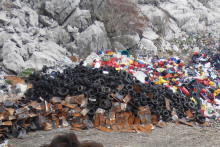 <p>сортирани отпад на Тисовим гредама</p>