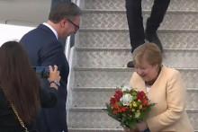 <p>Вучић дочекао Ангелу Меркел</p>