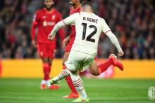 <p>Анте Ребић код првог гола Милана</p>