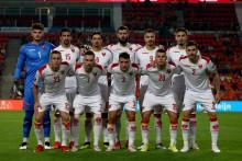 <p>Црногорски фудбалери пред меч са Холандијом у Ајндховену</p>