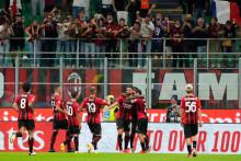 <p>Играчи Милана</p>
