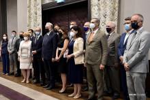 <p>Кривокапић са амбасадорима</p>