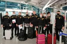 <p>Џију-џицу репрезентативци на аеродрому</p>