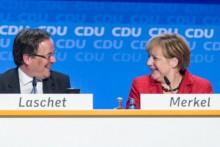 <p>Лашет и Меркел</p>