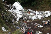 <p>Авион у коме су били фудбалери Шапекоенсеа</p>