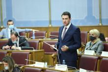 <p>Амер Смаиловић у Скупштини</p>
