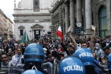 <p>Протести против ковид пропусница широм Италије</p>