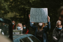 <p>Са једног од ранијих протеста</p>