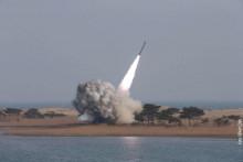 <p>Тестирање балистичке ракете</p>